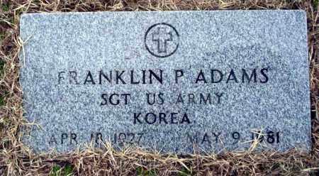 ADAMS  (VETERAN KOR), FRANKLIN - Ouachita County, Arkansas | FRANKLIN ADAMS  (VETERAN KOR) - Arkansas Gravestone Photos