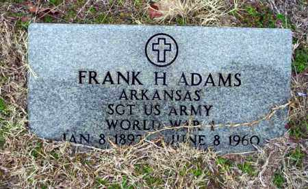 ADAMS (VETERAN WWI), FRANK H - Ouachita County, Arkansas | FRANK H ADAMS (VETERAN WWI) - Arkansas Gravestone Photos
