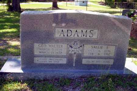 ADAMS, SALLIE B. - Ouachita County, Arkansas | SALLIE B. ADAMS - Arkansas Gravestone Photos