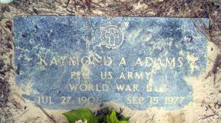 ADAMS (VETERAN WWII), RAYMOND A - Ouachita County, Arkansas | RAYMOND A ADAMS (VETERAN WWII) - Arkansas Gravestone Photos