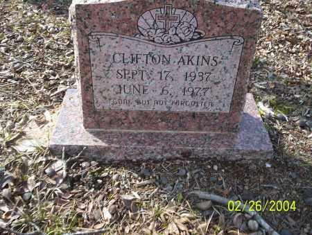 AKINS, CLIFTON - Ouachita County, Arkansas | CLIFTON AKINS - Arkansas Gravestone Photos