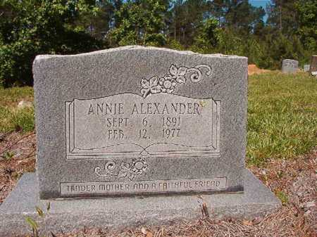 ALEXANDER, ANNIE - Ouachita County, Arkansas | ANNIE ALEXANDER - Arkansas Gravestone Photos