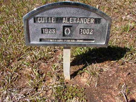 ALEXANDER, CUTIE - Ouachita County, Arkansas | CUTIE ALEXANDER - Arkansas Gravestone Photos