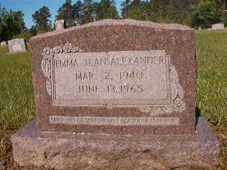 ALEXANDER, EMMA JEAN - Ouachita County, Arkansas | EMMA JEAN ALEXANDER - Arkansas Gravestone Photos