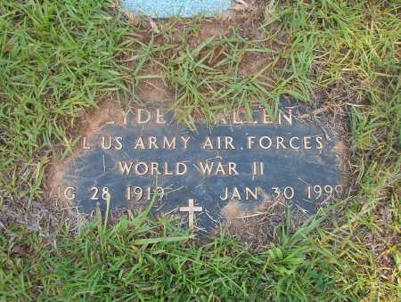ALLEN (VETERAN WWII), CLYDE - Ouachita County, Arkansas | CLYDE ALLEN (VETERAN WWII) - Arkansas Gravestone Photos