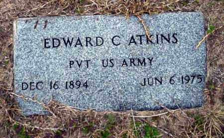 ATKINS (VETERAN), EDWARD C - Ouachita County, Arkansas | EDWARD C ATKINS (VETERAN) - Arkansas Gravestone Photos