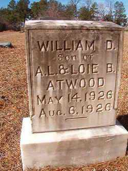 ATWOOD, WILLIAM D - Ouachita County, Arkansas | WILLIAM D ATWOOD - Arkansas Gravestone Photos