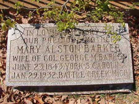 ALSTON BARKER, MARY - Ouachita County, Arkansas | MARY ALSTON BARKER - Arkansas Gravestone Photos