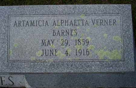 BARNES, ARTAMICIA ALPHAETTA - Ouachita County, Arkansas | ARTAMICIA ALPHAETTA BARNES - Arkansas Gravestone Photos