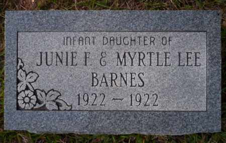BARNES, INFANT DAUGHTER - Ouachita County, Arkansas | INFANT DAUGHTER BARNES - Arkansas Gravestone Photos
