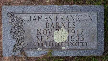 BARNES, JAMES FRANKLIN - Ouachita County, Arkansas | JAMES FRANKLIN BARNES - Arkansas Gravestone Photos