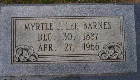 LEE BARNES, MYRTLE J - Ouachita County, Arkansas | MYRTLE J LEE BARNES - Arkansas Gravestone Photos