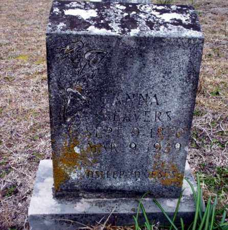 BEAVERS, ANNA - Ouachita County, Arkansas | ANNA BEAVERS - Arkansas Gravestone Photos