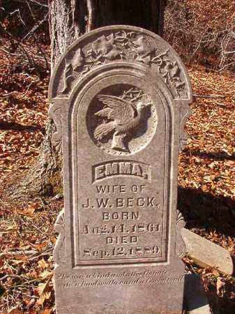 BECK, EMMA - Ouachita County, Arkansas | EMMA BECK - Arkansas Gravestone Photos