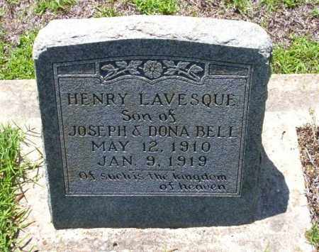 BELL, HENRY LAVESQUE - Ouachita County, Arkansas | HENRY LAVESQUE BELL - Arkansas Gravestone Photos