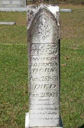 BENTON, S. F. - Ouachita County, Arkansas | S. F. BENTON - Arkansas Gravestone Photos