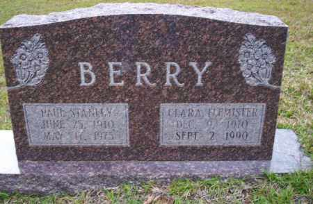 FLEMISTER BERRY, CLARA - Ouachita County, Arkansas | CLARA FLEMISTER BERRY - Arkansas Gravestone Photos