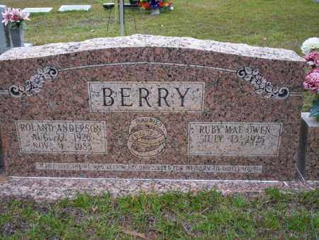 BERRY, ROLAND ANDERSON - Ouachita County, Arkansas | ROLAND ANDERSON BERRY - Arkansas Gravestone Photos