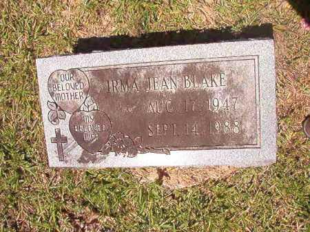 BLAKE, IRMA JEAN - Ouachita County, Arkansas | IRMA JEAN BLAKE - Arkansas Gravestone Photos