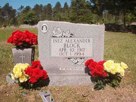 ALEXANDER BLOCK, INEZ - Ouachita County, Arkansas | INEZ ALEXANDER BLOCK - Arkansas Gravestone Photos