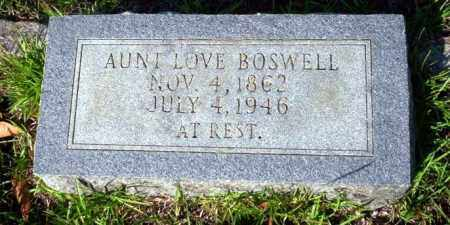 BOSWELL, LOVE - Ouachita County, Arkansas | LOVE BOSWELL - Arkansas Gravestone Photos