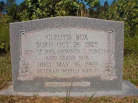 BOX (VETERAN WWII), CLEOTIS - Ouachita County, Arkansas | CLEOTIS BOX (VETERAN WWII) - Arkansas Gravestone Photos