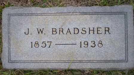 BRADSHER, J.W. - Ouachita County, Arkansas | J.W. BRADSHER - Arkansas Gravestone Photos