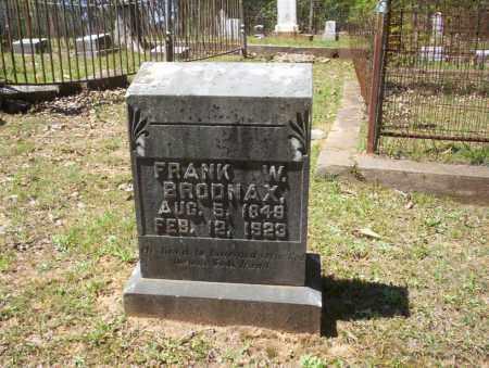 BRODNAX, FRANK W - Ouachita County, Arkansas | FRANK W BRODNAX - Arkansas Gravestone Photos