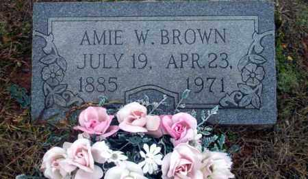 BROWN, AMIE W - Ouachita County, Arkansas | AMIE W BROWN - Arkansas Gravestone Photos