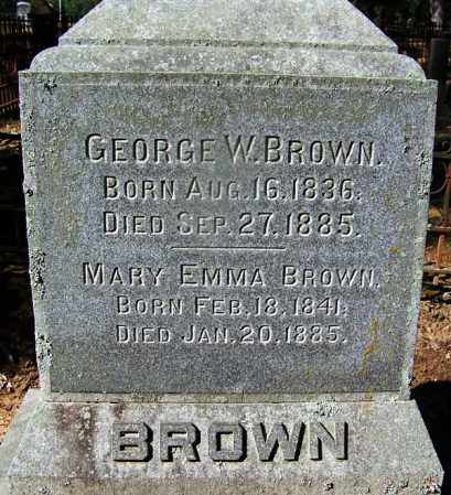 BROWN, MARY EMMA - Ouachita County, Arkansas | MARY EMMA BROWN - Arkansas Gravestone Photos