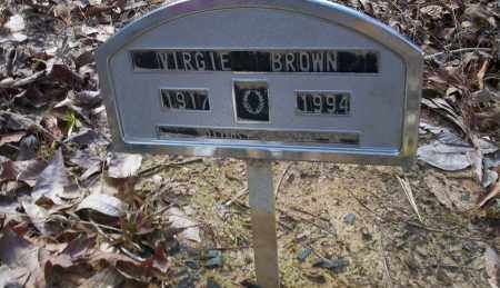 BROWN, VIRGIE - Ouachita County, Arkansas | VIRGIE BROWN - Arkansas Gravestone Photos