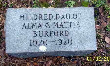 BURFORD, MILDRED - Ouachita County, Arkansas | MILDRED BURFORD - Arkansas Gravestone Photos