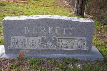 WOTEN BURKETT, MYRON - Ouachita County, Arkansas | MYRON WOTEN BURKETT - Arkansas Gravestone Photos