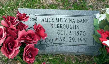 BANE BURROUGHS, ALICE MELVINA - Ouachita County, Arkansas | ALICE MELVINA BANE BURROUGHS - Arkansas Gravestone Photos