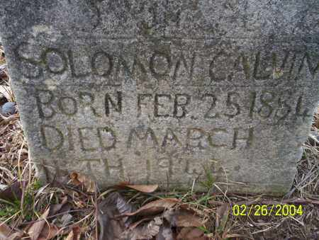 CALVIN, SOLOMON - Ouachita County, Arkansas | SOLOMON CALVIN - Arkansas Gravestone Photos