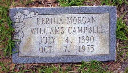 MORGAN WILLIAMS, BERTHA - Ouachita County, Arkansas | BERTHA MORGAN WILLIAMS - Arkansas Gravestone Photos
