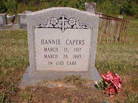 CAPERS, HANNIE - Ouachita County, Arkansas | HANNIE CAPERS - Arkansas Gravestone Photos