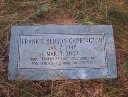 BENSON CARRINGTON, FRANKIE - Ouachita County, Arkansas | FRANKIE BENSON CARRINGTON - Arkansas Gravestone Photos