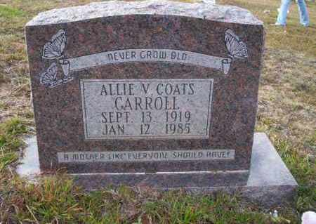 COATS CARROLL, ALLIE V - Ouachita County, Arkansas | ALLIE V COATS CARROLL - Arkansas Gravestone Photos