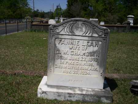 CHANDLER, FANNIE LEAH - Ouachita County, Arkansas | FANNIE LEAH CHANDLER - Arkansas Gravestone Photos