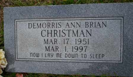 BRIAN CHRISTMAN, DEMORRIS ANN - Ouachita County, Arkansas | DEMORRIS ANN BRIAN CHRISTMAN - Arkansas Gravestone Photos