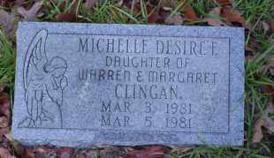 CLINGAN, MICHELLE DESIREE - Ouachita County, Arkansas | MICHELLE DESIREE CLINGAN - Arkansas Gravestone Photos