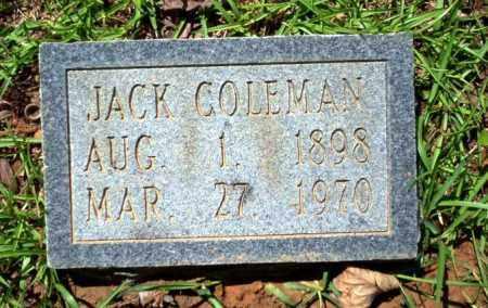 COLEMAN, JACK - Ouachita County, Arkansas | JACK COLEMAN - Arkansas Gravestone Photos