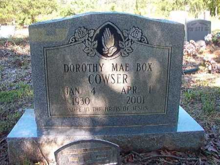 BOX COWSER, DOROTHY MAE - Ouachita County, Arkansas | DOROTHY MAE BOX COWSER - Arkansas Gravestone Photos