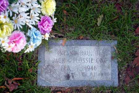 COX, INFANT DAUGHTER - Ouachita County, Arkansas | INFANT DAUGHTER COX - Arkansas Gravestone Photos