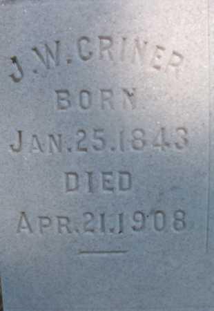 CRINER, J W - Ouachita County, Arkansas   J W CRINER - Arkansas Gravestone Photos