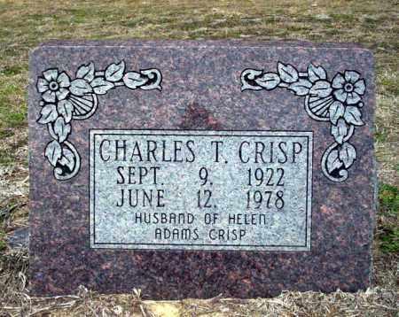 CRISP, CHARLES T - Ouachita County, Arkansas | CHARLES T CRISP - Arkansas Gravestone Photos