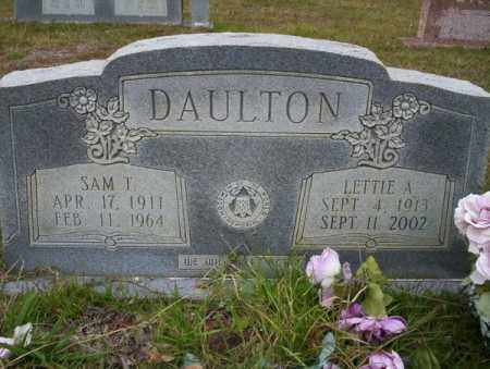 DAULTON, LETTIE A - Ouachita County, Arkansas | LETTIE A DAULTON - Arkansas Gravestone Photos