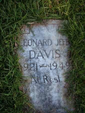 DAVIS, LEONARD JEFF - Ouachita County, Arkansas | LEONARD JEFF DAVIS - Arkansas Gravestone Photos