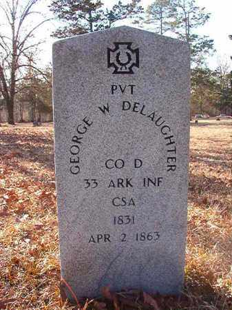 DELAUGHTER (VETERAN CSA), GEORGE W - Ouachita County, Arkansas | GEORGE W DELAUGHTER (VETERAN CSA) - Arkansas Gravestone Photos